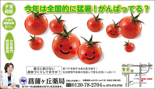 菖蒲ヶ丘薬局通信 2016年8月
